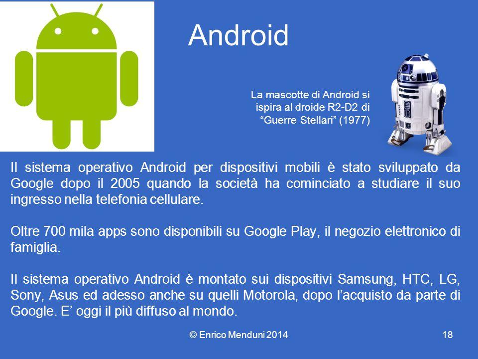 Android Il sistema operativo Android per dispositivi mobili è stato sviluppato da Google dopo il 2005 quando la società ha cominciato a studiare il su