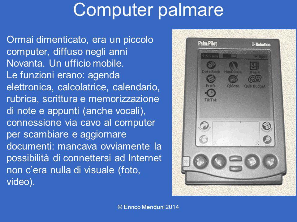 Computer palmare Ormai dimenticato, era un piccolo computer, diffuso negli anni Novanta. Un ufficio mobile. Le funzioni erano: agenda elettronica, cal