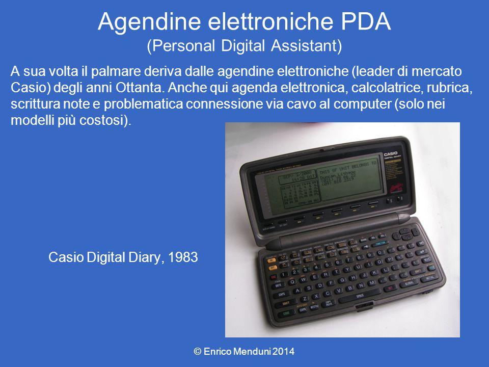 Agendine elettroniche PDA (Personal Digital Assistant) A sua volta il palmare deriva dalle agendine elettroniche (leader di mercato Casio) degli anni