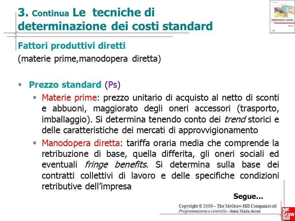 9 Copyright © 2009 – The McGraw-Hill Companies srl Programmazione e controllo - Anna Maria Arcari 3.