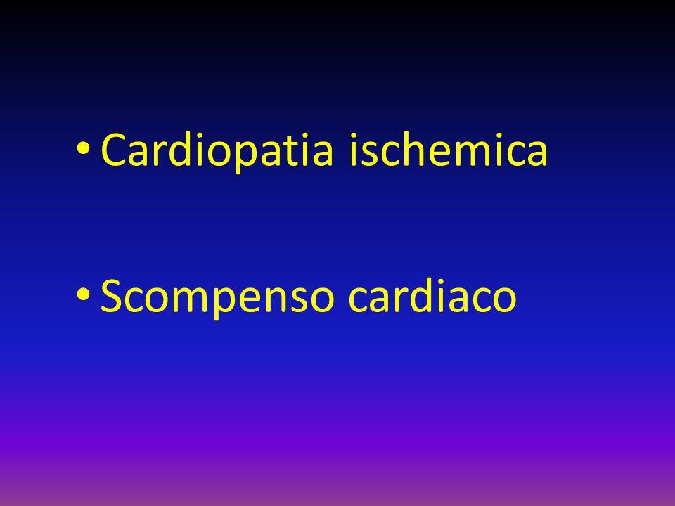 Cardiopatia ischemica Scompenso cardiaco