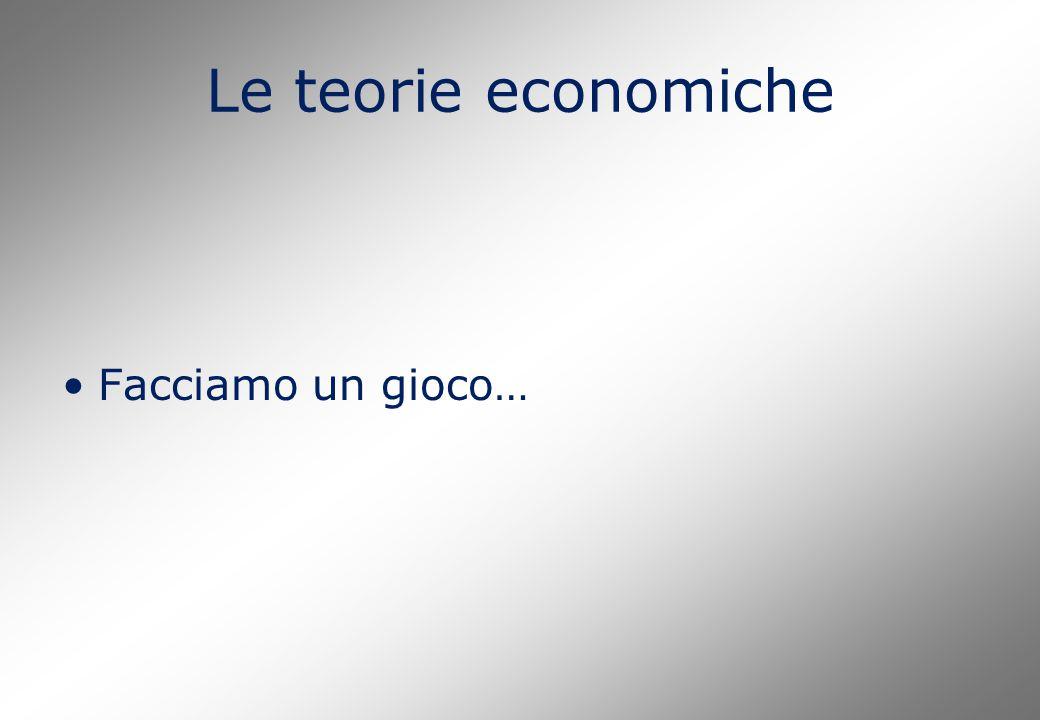 Le teorie economiche Facciamo un gioco…