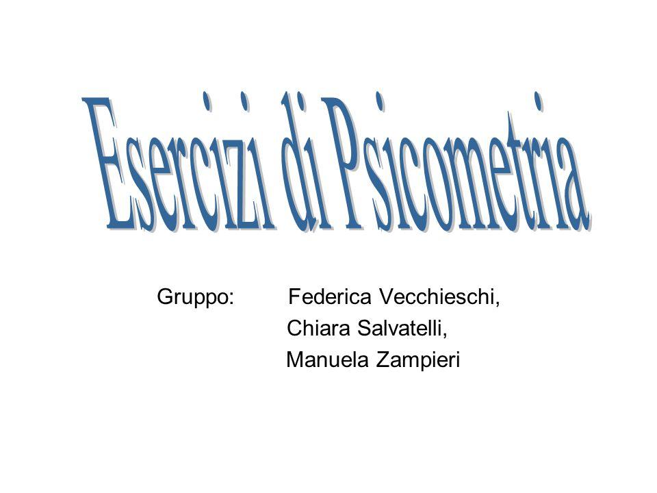 Gruppo:Federica Vecchieschi, Chiara Salvatelli, Manuela Zampieri