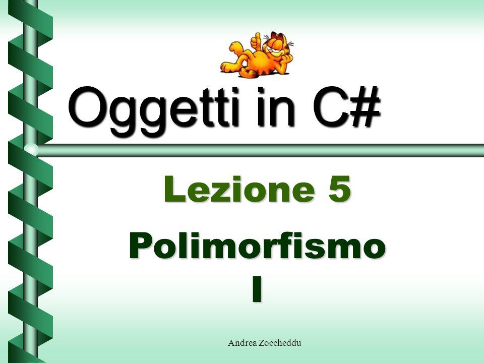 Andrea Zoccheddu Oggetti in C# Lezione 5 Polimorfismo I