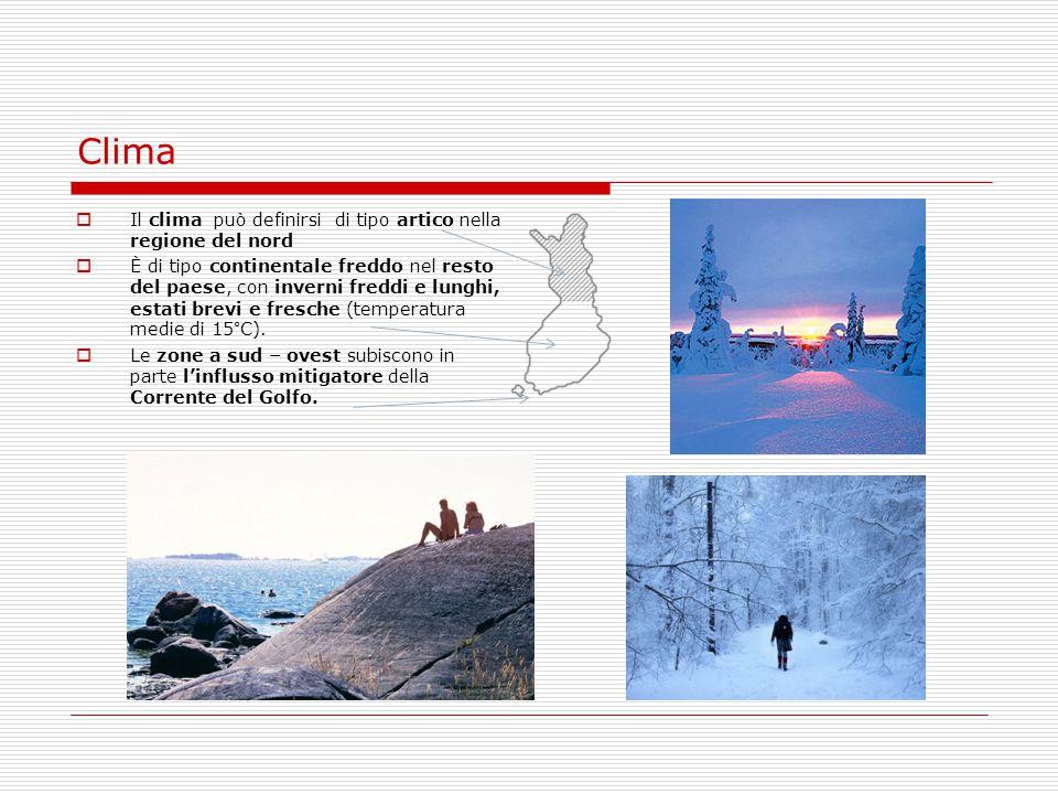 Clima  Il clima può definirsi di tipo artico nella regione del nord  È di tipo continentale freddo nel resto del paese, con inverni freddi e lunghi,