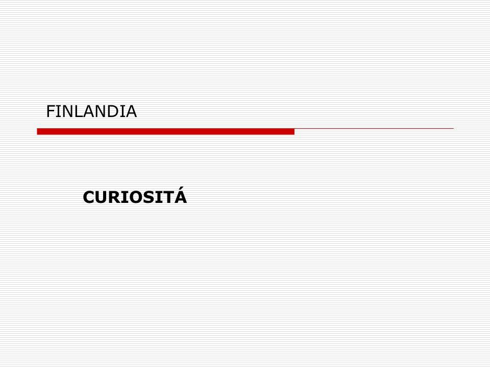 FINLANDIA CURIOSITÁ