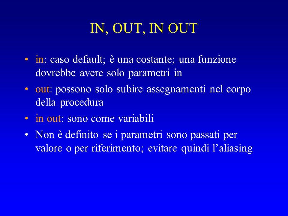 I GESTORI Sintassi: exception when ecc1 or...