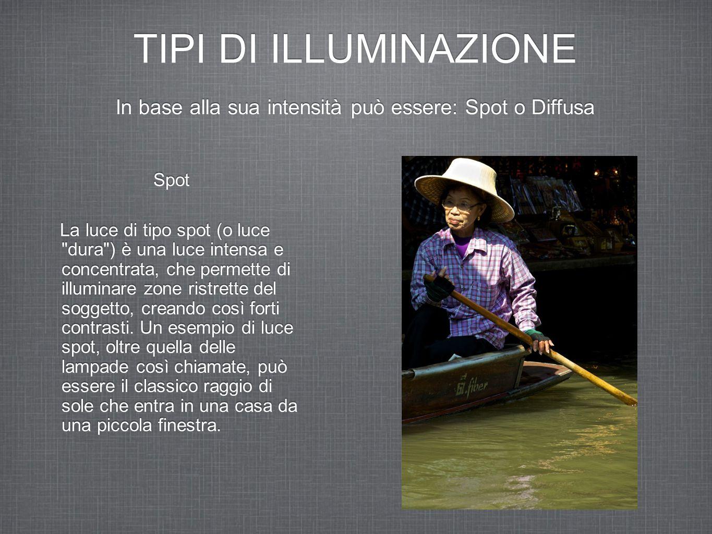 TIPI DI ILLUMINAZIONE Spot La luce di tipo spot (o luce