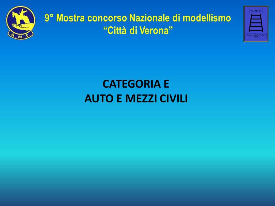 CATEGORIA E AUTO E MEZZI CIVILI 9° Mostra concorso Nazionale di modellismo Città di Verona