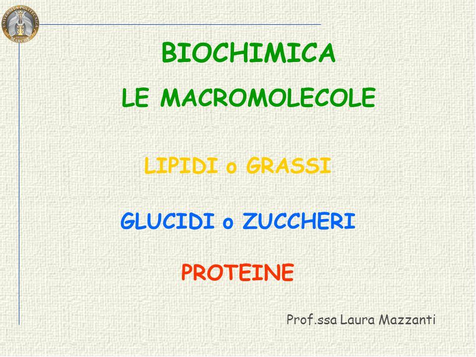 - Sono componenti principali dei lipidi di deposito nelle cellule animali LE PRINCIPALI PROPRIETA' - A temperatura ambiente possono essere GRASSI SOLIDI e sono chiamati GRASSI OLI LIQUIDI e sono chiamati OLI - Possono essere definiti: SEMPLICI SEMPLICI se gli acidi grassi sono uguali MISTI MISTI se gli acidi grassi sono diversi