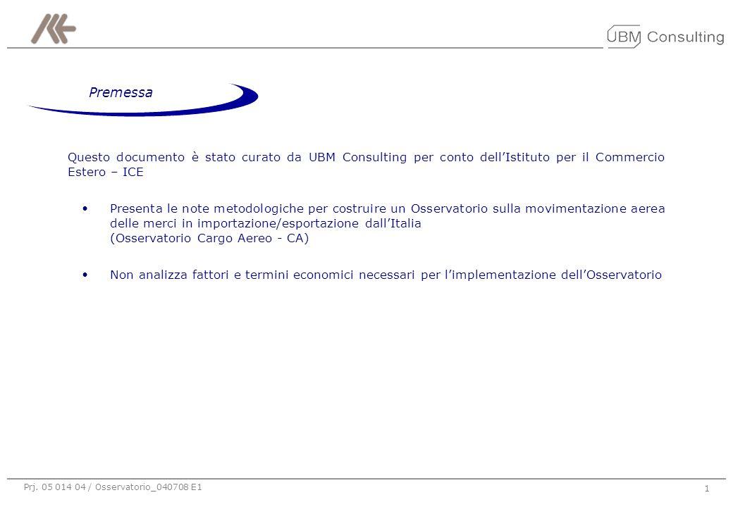 Prj. 05 014 04 / Osservatorio_040708 E1 1 Questo documento è stato curato da UBM Consulting per conto dell'Istituto per il Commercio Estero – ICE Pres