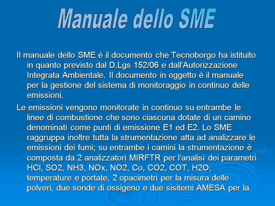 Il manuale dello SME è il documento che Tecnoborgo ha istituito in quanto previsto dal D.Lgs 152/06 e dall'Autorizzazione Integrata Ambientale. Il doc