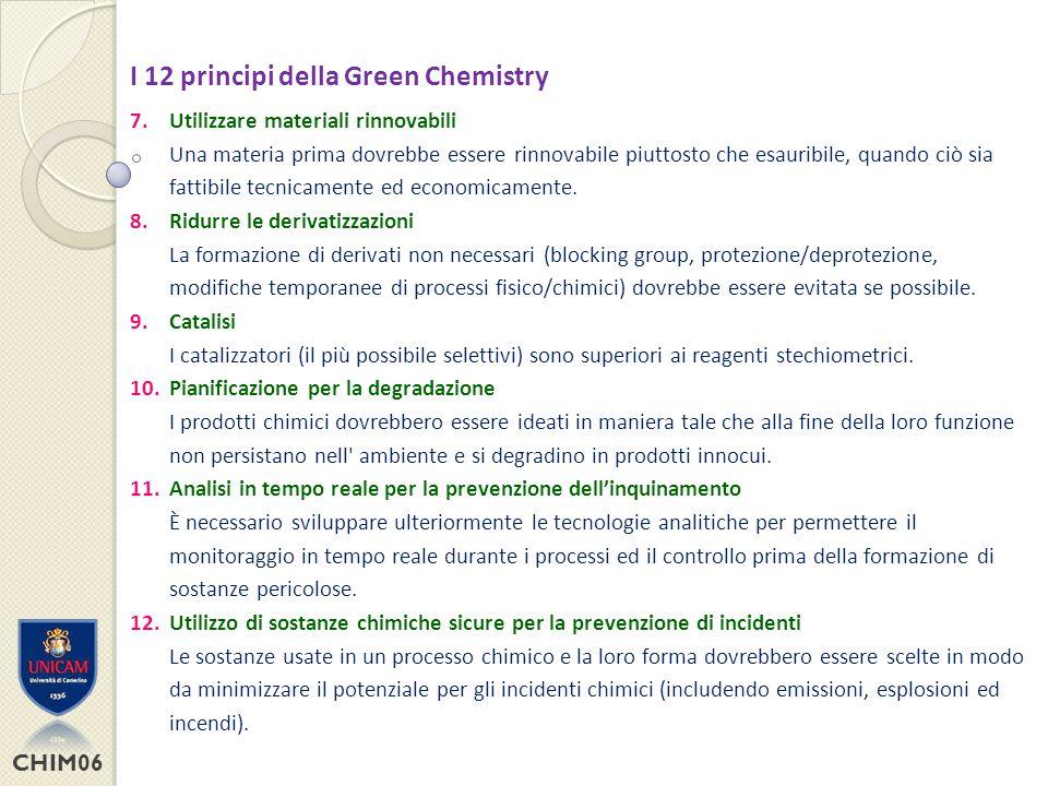 CHIM06 Scelta del solvente Il solvente è un materiale ausiliaro utilizzato nella sintesi chimica.