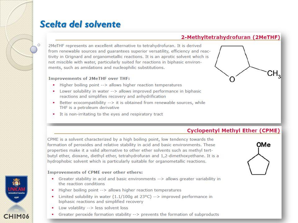 CHIM06 Scelta del solvente