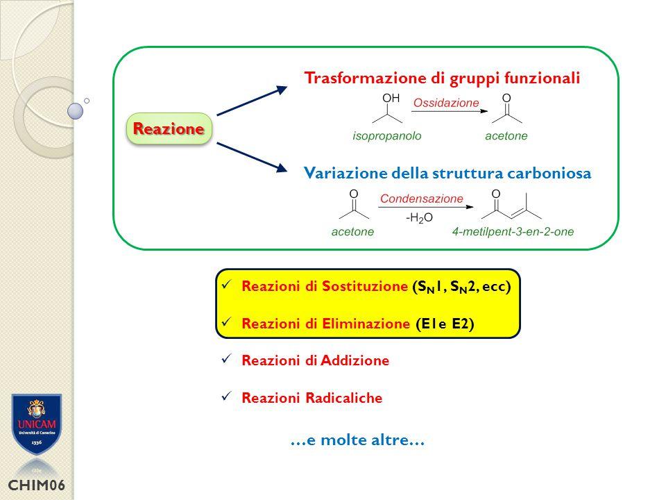 CHIM06 S PECIE C OINVOLTE NELLE REAZIONI Nucleofilo (Basi di Lewis)Elettrofilo (Acidi di Lewis) + +