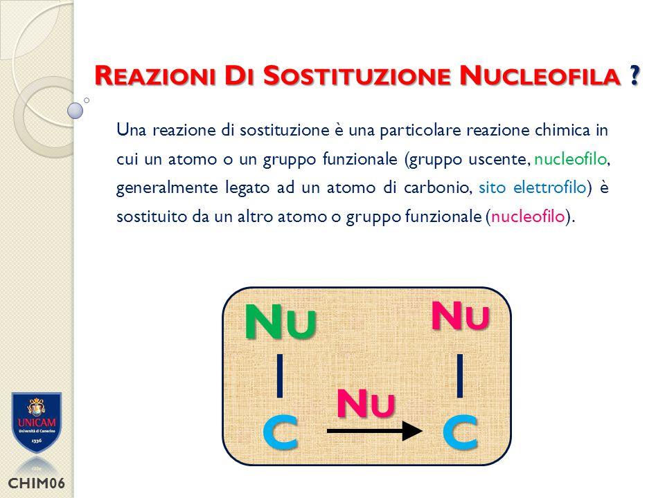 Gruppi che stabilizzano la carica negativa CHIM06 G RUPPO U SCENTE .