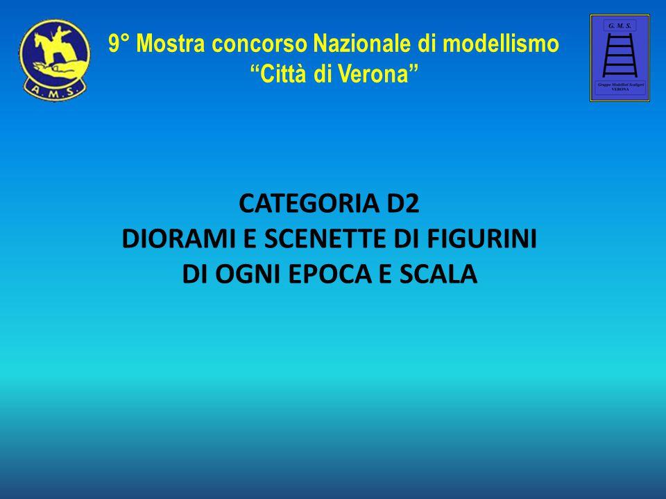 """CATEGORIA D2 DIORAMI E SCENETTE DI FIGURINI DI OGNI EPOCA E SCALA 9° Mostra concorso Nazionale di modellismo """"Città di Verona"""""""