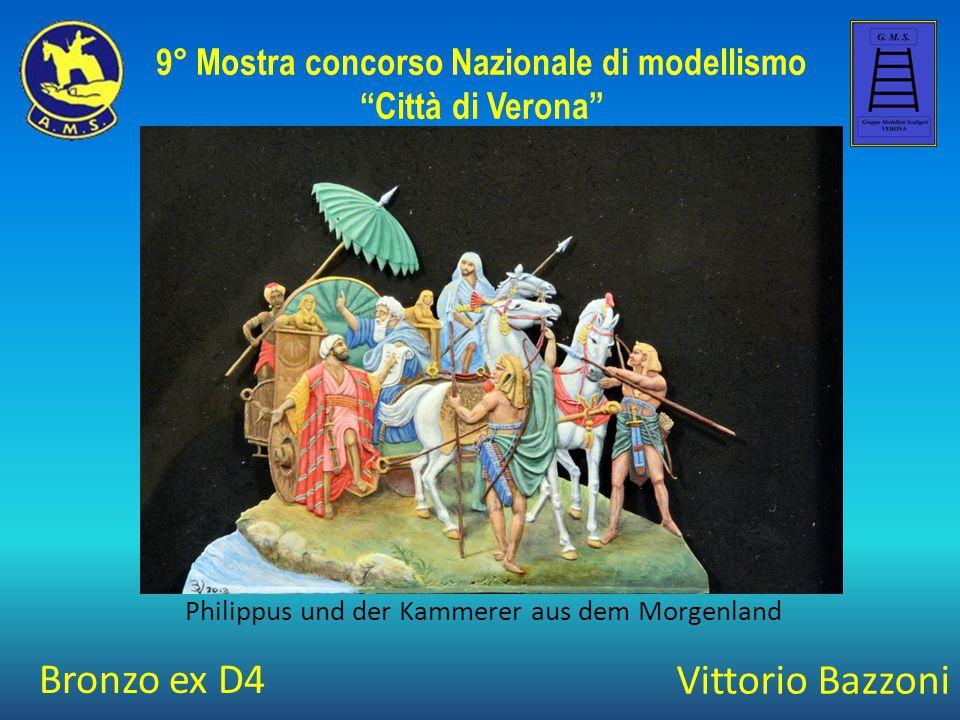 """Vittorio Bazzoni Philippus und der Kammerer aus dem Morgenland 9° Mostra concorso Nazionale di modellismo """"Città di Verona"""" Bronzo ex D4"""