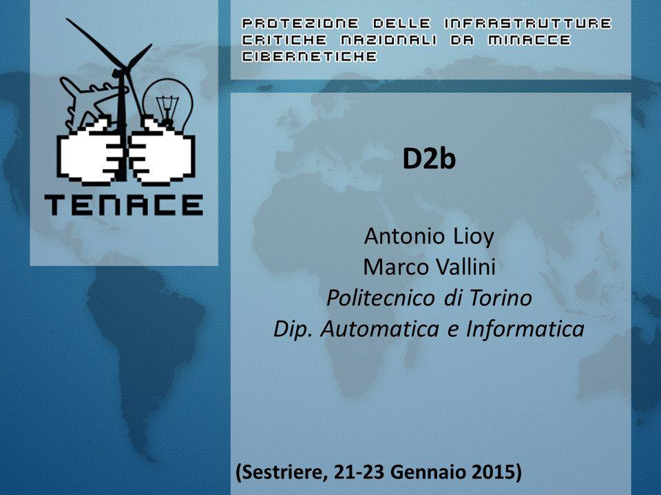 D2b Antonio Lioy Marco Vallini Politecnico di Torino Dip. Automatica e Informatica (Sestriere, 21-23 Gennaio 2015)