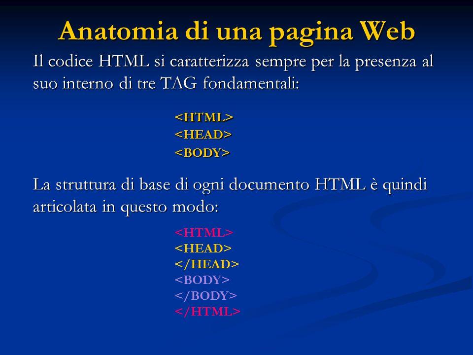 Immagini: Il tag IMG Per inserire un immagine in una pagina HTML basta inserire il tag: ; questo tag non ha bisogno di chiusura.