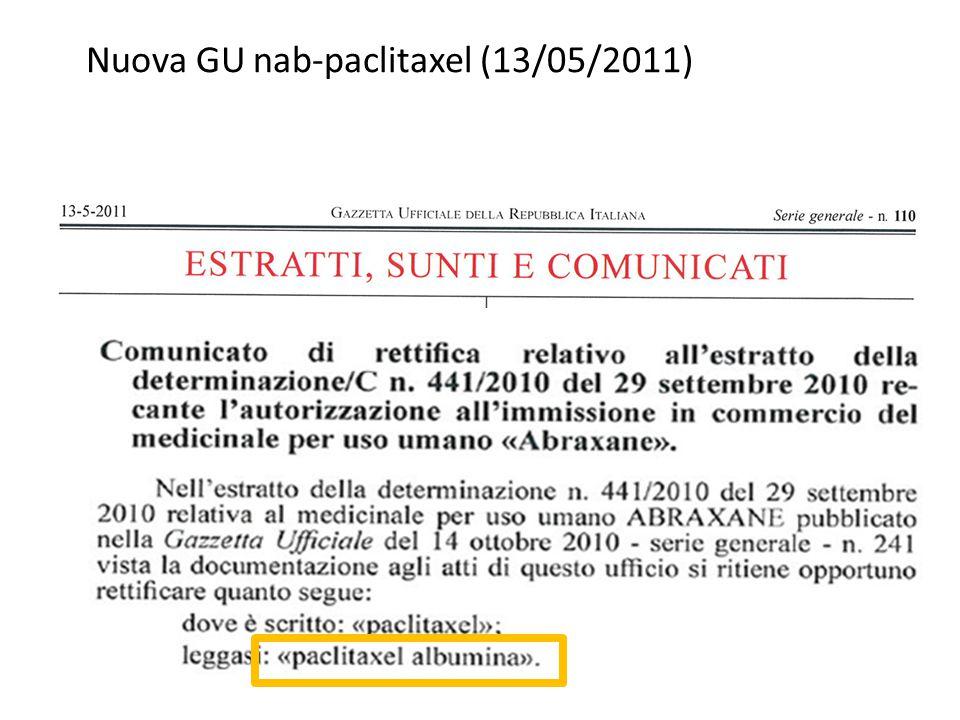Nuova GU nab-paclitaxel (13/05/2011)