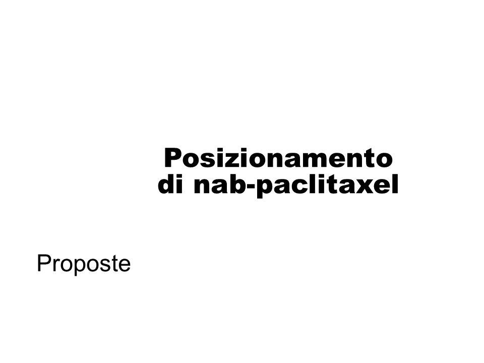 Posizionamento di nab-paclitaxel Proposte