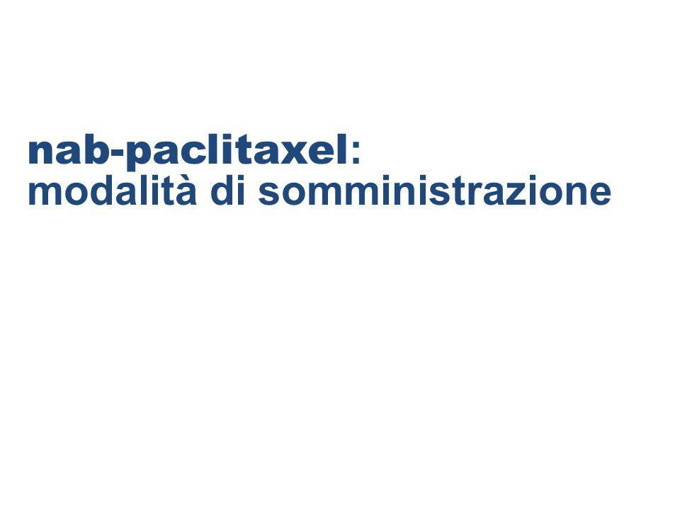 nab-paclitaxel : modalità di somministrazione