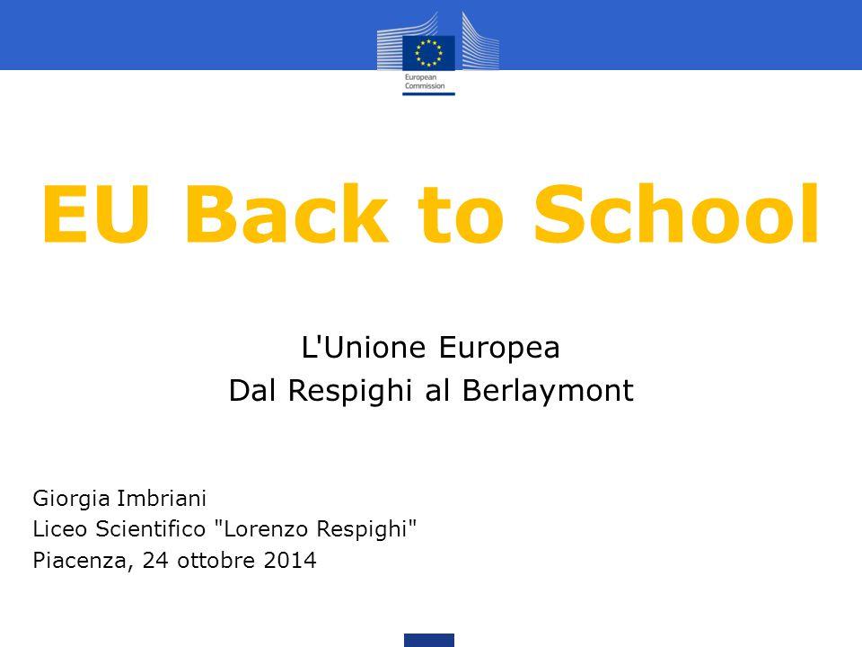 EU Back to School Giorgia Imbriani Liceo Scientifico