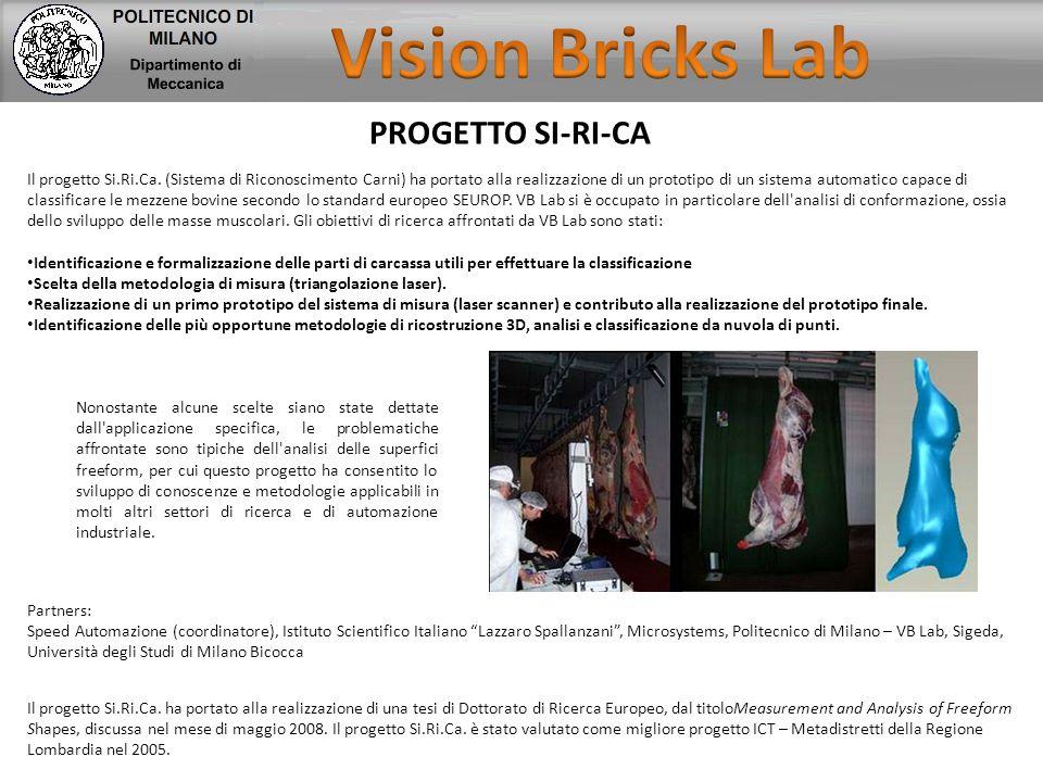 PROGETTO SI-RI-CA Il progetto Si.Ri.Ca. (Sistema di Riconoscimento Carni) ha portato alla realizzazione di un prototipo di un sistema automatico capac