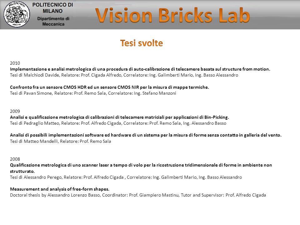 2010 Implementazione e analisi metrologica di una procedura di auto-calibrazione di telecamere basata sul structure from motion. Tesi di Malchiodi Dav