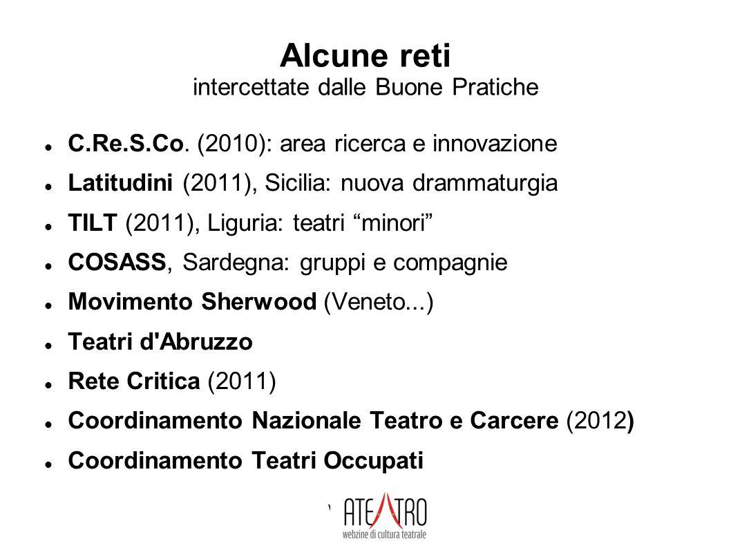 www.ateatro.it Alcune reti intercettate dalle Buone Pratiche C.Re.S.Co.