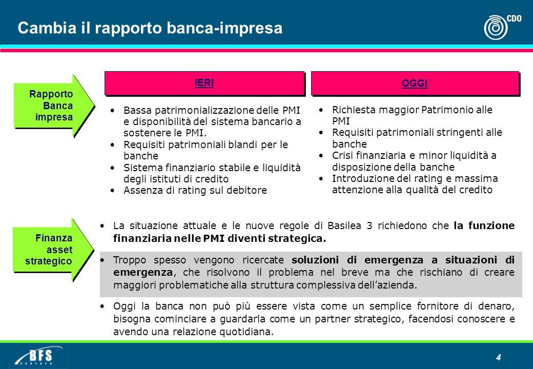 La situazione attuale e le nuove regole di Basilea 3 richiedono che la funzione finanziaria nelle PMI diventi strategica.