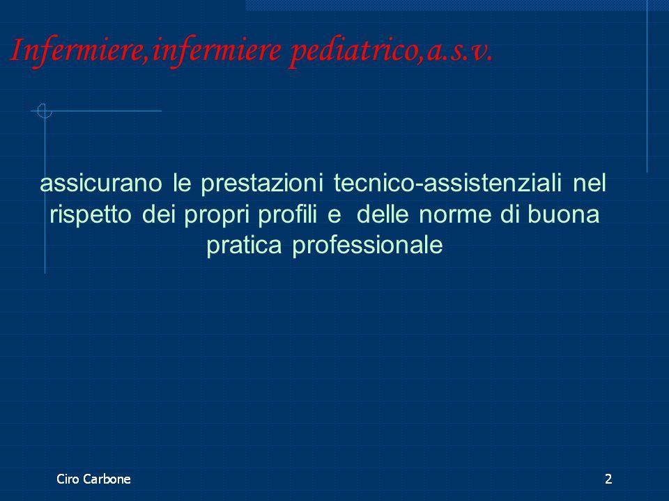 Infermiere,infermiere pediatrico,a.s.v. assicurano le prestazioni tecnico-assistenziali nel rispetto dei propri profili e delle norme di buona pratica