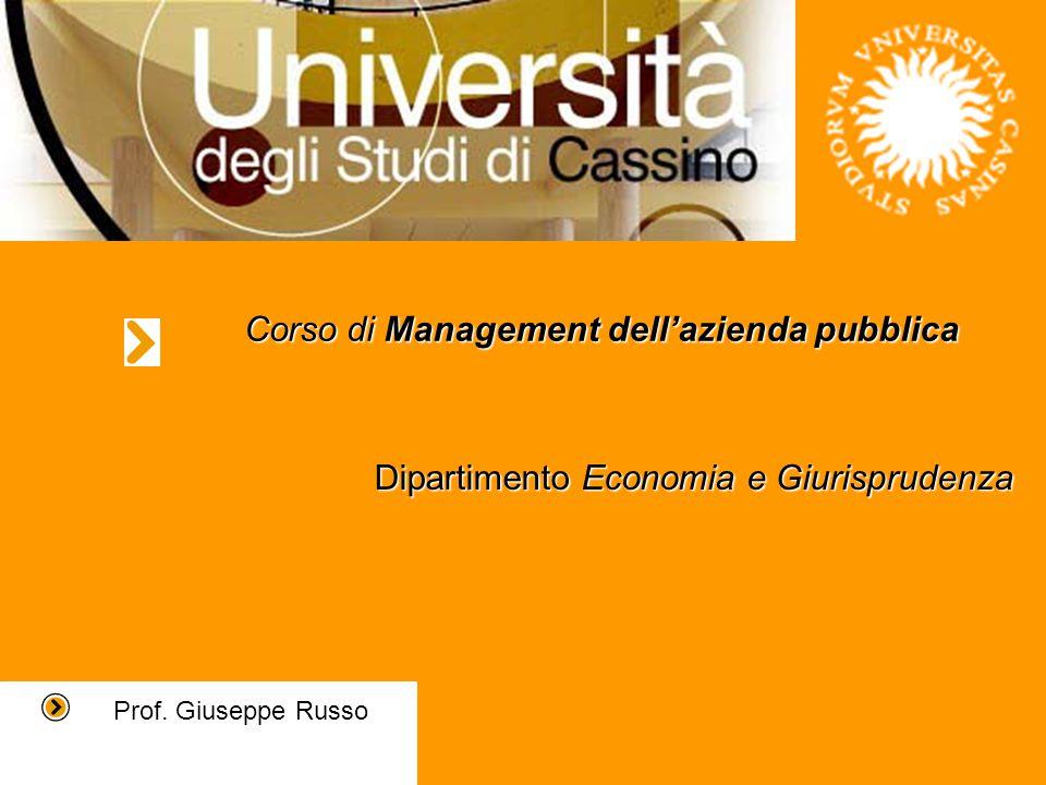 Corso di Management dell'azienda pubblica Prof.