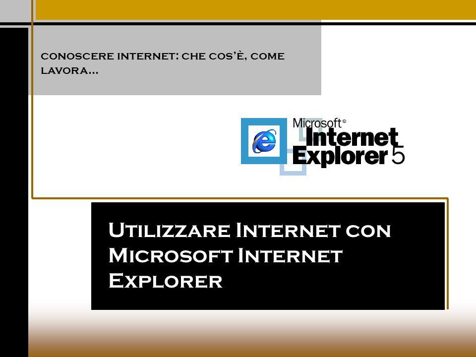 Utilizzare Internet con Microsoft Internet Explorer conoscere internet: che cos'è, come lavora...
