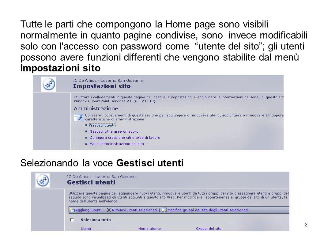 O.Buffa M. Giraudo9 Come personalizzare la Home Page.