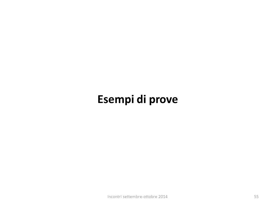 Esempi di prove Incontri settembre-ottobre 201455