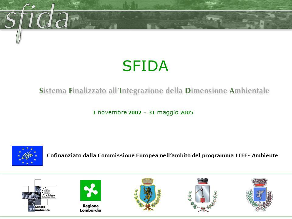 Cofinanziato dalla Commissione Europea nell'ambito del programma LIFE- Ambiente 1 novembre 2002 – 31 maggio 2005 SFIDA