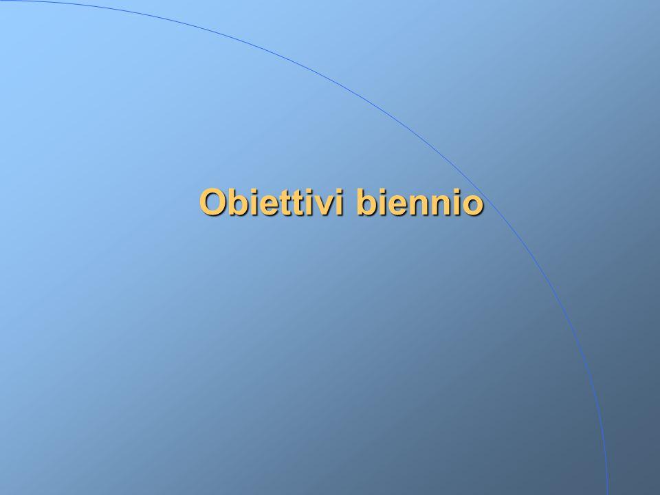 Obiettivi biennio