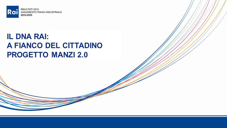 IL DNA RAI: A FIANCO DEL CITTADINO PROGETTO MANZI 2.0
