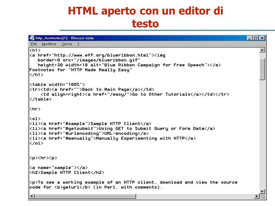 23 HTML aperto con un editor di testo