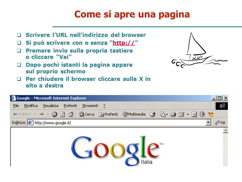 """26 Come si apre una pagina  Scrivere l'URL nell'indirizzo del browser  Si può scrivere con o senza """"http://""""http://  Premere invio sulla propria ta"""