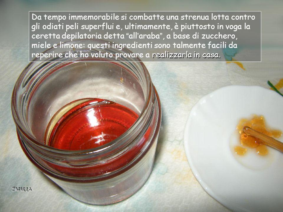 Ceretta araba fai da te: riciclo del miele scaduto Avanzamento con click del mouse