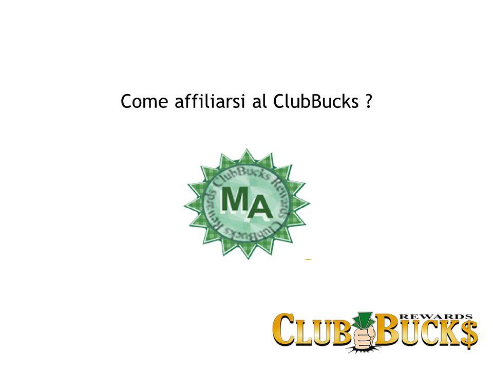 Come affiliarsi al ClubBucks