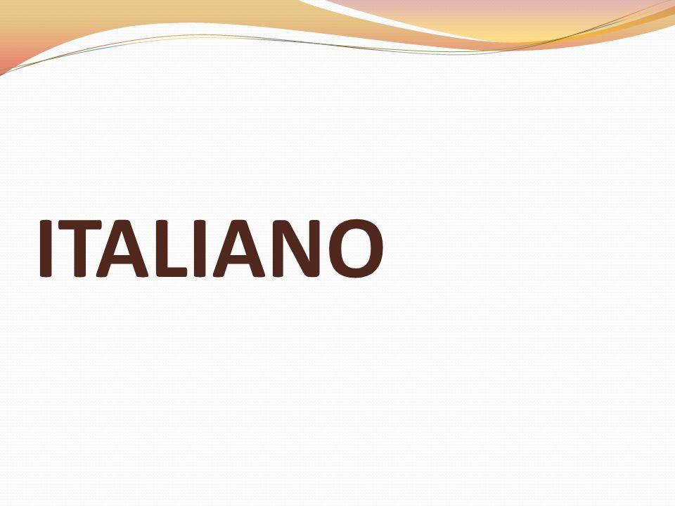 ITALIANO CLASSI SECONDE