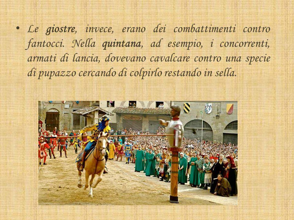 Il torneo Quando non erano in guerra, i cavalieri partecipavano a tornei e giostre. I tornei erano incontri di squadre di cavalieri che combattevano p