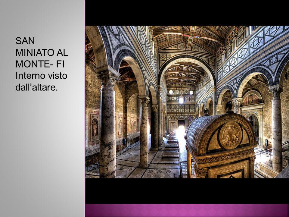 SAN MINIATO AL MONTE- FI Interno visto dall'altare.