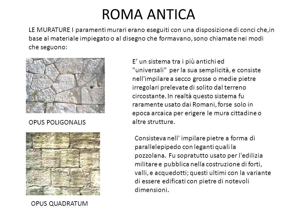 ROMA ANTICA E' un sistema tra i più antichi ed