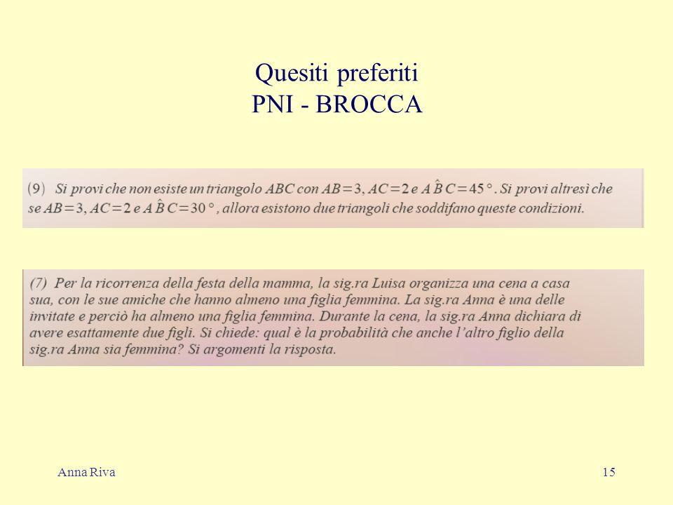 Anna Riva15 Quesiti preferiti PNI - BROCCA