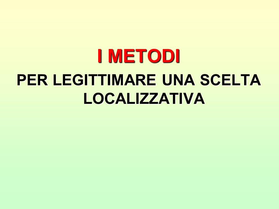 Metodi per legittimare una scelta localizzativa che impone un sacrificio (escluso il ricorso all'autorità)